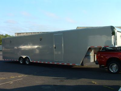 40 ft. ATC 5th Wheel Enclosed Car Trailer