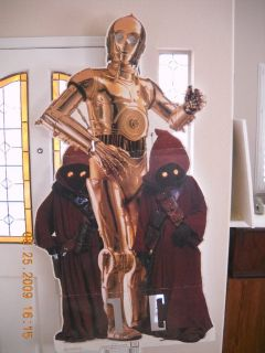 1st Star wars C3P Store Stand Up Poster Battery Opperated 6 Ft. 90'S
