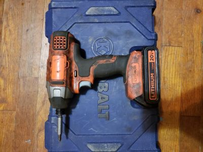 Black n decker Drill and kobolt socket set