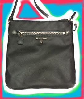 Michael KORS NYLON BLACK CROSSBODY BAG