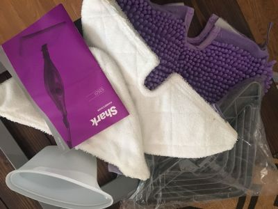 Shark cordless steam mop accessories never used, MOP NOT INCLUDED, fits model S3501, all for $3!