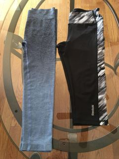 2 workout Capri s, Blue is a med black size small l. SFH.
