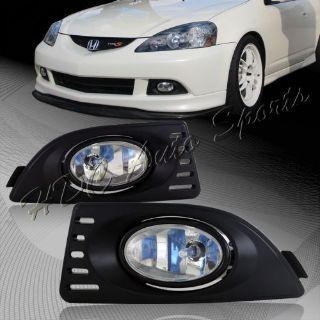Buy For 2005-2007 Acura RSX Chrome Housing Clear Lens Front Fog Driving Lights Lamps motorcycle in Walnut, California, United States