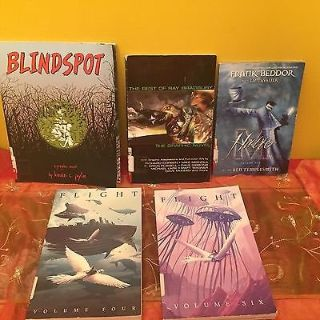 lot of 5 graphic novels comics blindspot, flight and more