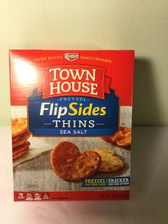 Keebler townhouse flipside pretzel thins sea salt, expiration July 7, 2019