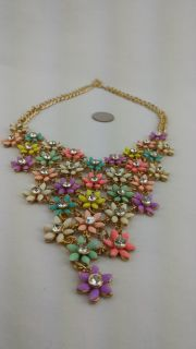 Fantasy Big Flowers Statement Necklace New