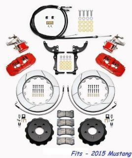 Purchase Wilwood AERO4-MC4 Red Rear Big Brake Parking Brake Kit Fits 2015 Ford Mustang,GT motorcycle in Camarillo, California, United States, for US $1,869.00