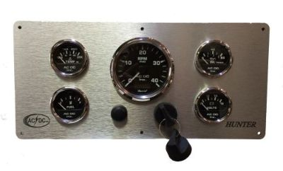 Sell Custom Instruments Panel for Hunter Sailing Yachts, 5 Gauges, Marine Grade motorcycle in Torrance, California, United States, for US $499.99