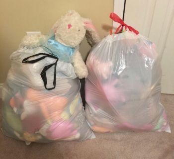 2 Large Bags of Stuffed Animals - Toys/Throws