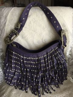 Montana West PURPLE FRINGE PURSE