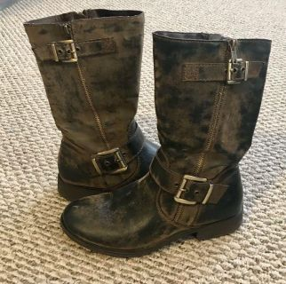 Distressed Brown Boots - Women s 8.5