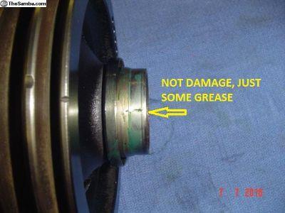 Pulley engine, rear, Vanagon Syncro