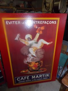 Cafe Martin Paris 1921 Vintage Leonetto Cappiello Coffee Advertising Super Large Wall Art 44 x 58