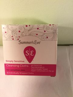 Summers eve simply sensitive cleansing cloths