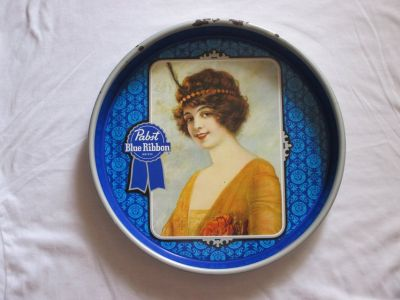 Pabst Metal Serving Tray