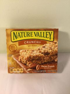 Nature valley pecan crunch granola bars, expiration May 2020
