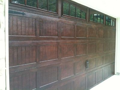 Garage Door Wood Painting