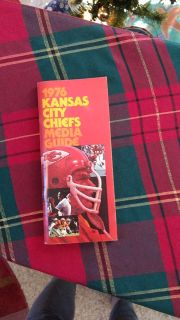 Know Someone Born In 1976 & A Chief's Enthusiast - Kansas City Chief's Media Guide from 1976