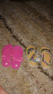 Pink and silver holographic sandals