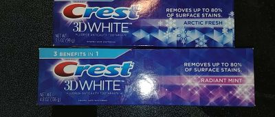 2 crest 3d white tooth paste
