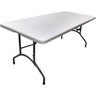 8 ft resin table 4 ft resin table and a folding card table