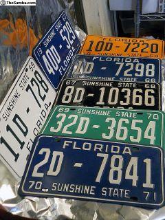 Rare Florida YOM plates VW & Porsche