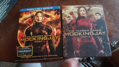 The hunger games part 1 &2 $10 for both