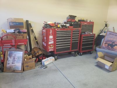 craftmen tool boxes and tools