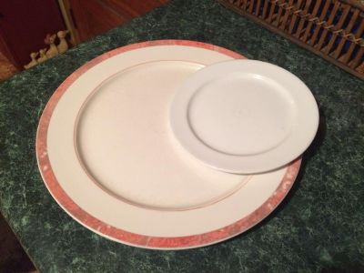 Two mis-matched plates