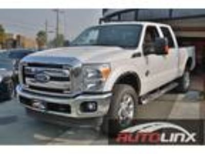 2011 Ford F-350 Super Duty Lariat Crew Cab 4WD White, 5th Wheel Towing, Camera