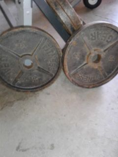 2, 35lbs Olympic plates