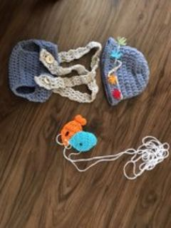 baby Crochet Fishing Outfit