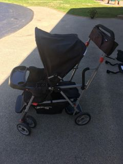 Joovy caboose double sit n stand stroller