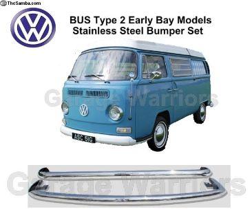 Bus T2 Bay Window Stainless Steel Bumper