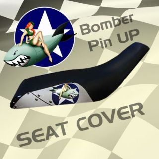 Find Yamaha YFM350 ER Moto4 87-95 Bomber Pin Up Seat Cover #obm19123 emp11133 motorcycle in Milwaukee, Wisconsin, United States, for US $39.99