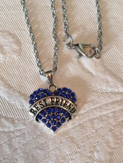 New Best Friend Crystal Heart Necklace
