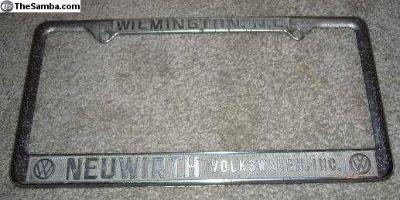 [WTB] Neuwirth Motors license plate frame