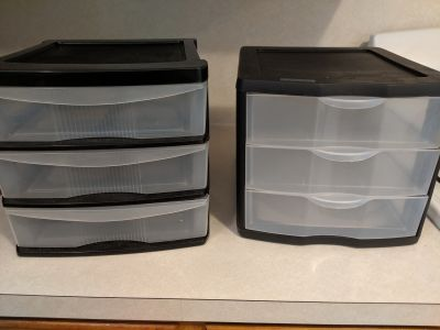 Plastic 3-drawer organizer