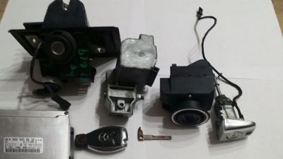 Sell Mercedes W208 W203 CLK320 Engine ECU Ignition Lock, Chrome Key & immobilizer set motorcycle in Fort Lauderdale, Florida, United States, for US $200.00