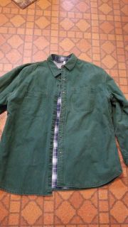 Wrangler expeditions xl flanel lined jean shirt 5.00 excellent cond