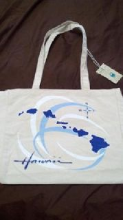 "$15 BRAND NEW! Eco Friendly-Large ""Hawaiian Islands"" Tote Bag"