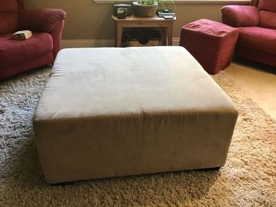 Large microfibre ottoman/coffee table