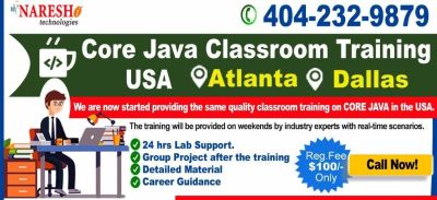 Java Classroom Training in Atlanta, USA - Naresh IT