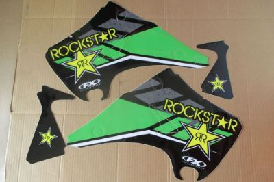 Find FX ROCKSTAR GRAPHICS KAWASAKI KX125 KX250 2003 2004 2005 2006 2007 motorcycle in Sutherlin, Oregon, United States, for US $19.99