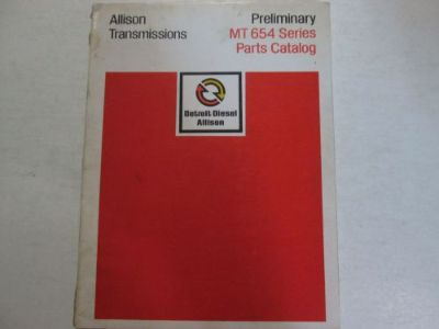 Purchase Allison Transmission MT 654 Series Parts Catalog Manual Factory OEM Book Used motorcycle in Sterling Heights, Michigan, United States, for US $43.95