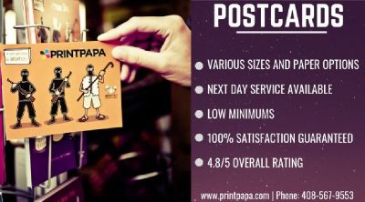 Get Postcards and Direct Mails printed from PrintPapa