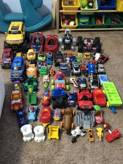 A ton of vehicles
