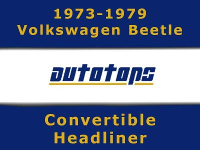 Purchase 1973-1979 VW Volkswagen Beetle Convertible top HEADLINER HEAD LINER motorcycle in Shamokin, Pennsylvania, US, for US $175.00