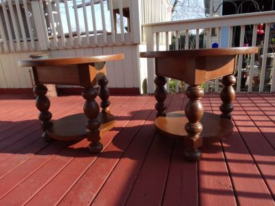 2 - Used End Tables just refinished. Price Reduced!