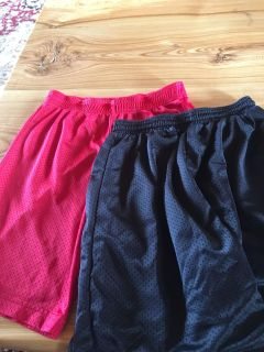 2 pair Boys Gym Shorts -size small